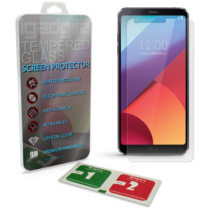 iGadgitz Tempered Glass Screen Protector for LG G6 H870 (2017) Shatterproof 9H Hardness Anti Scratch Thumbnail 1