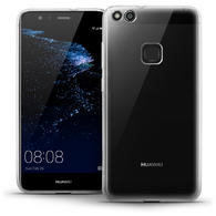 iGadgitz Glossy TPU Gel Skin Case Cover for Huawei P10 Lite (2017) + Screen Protector