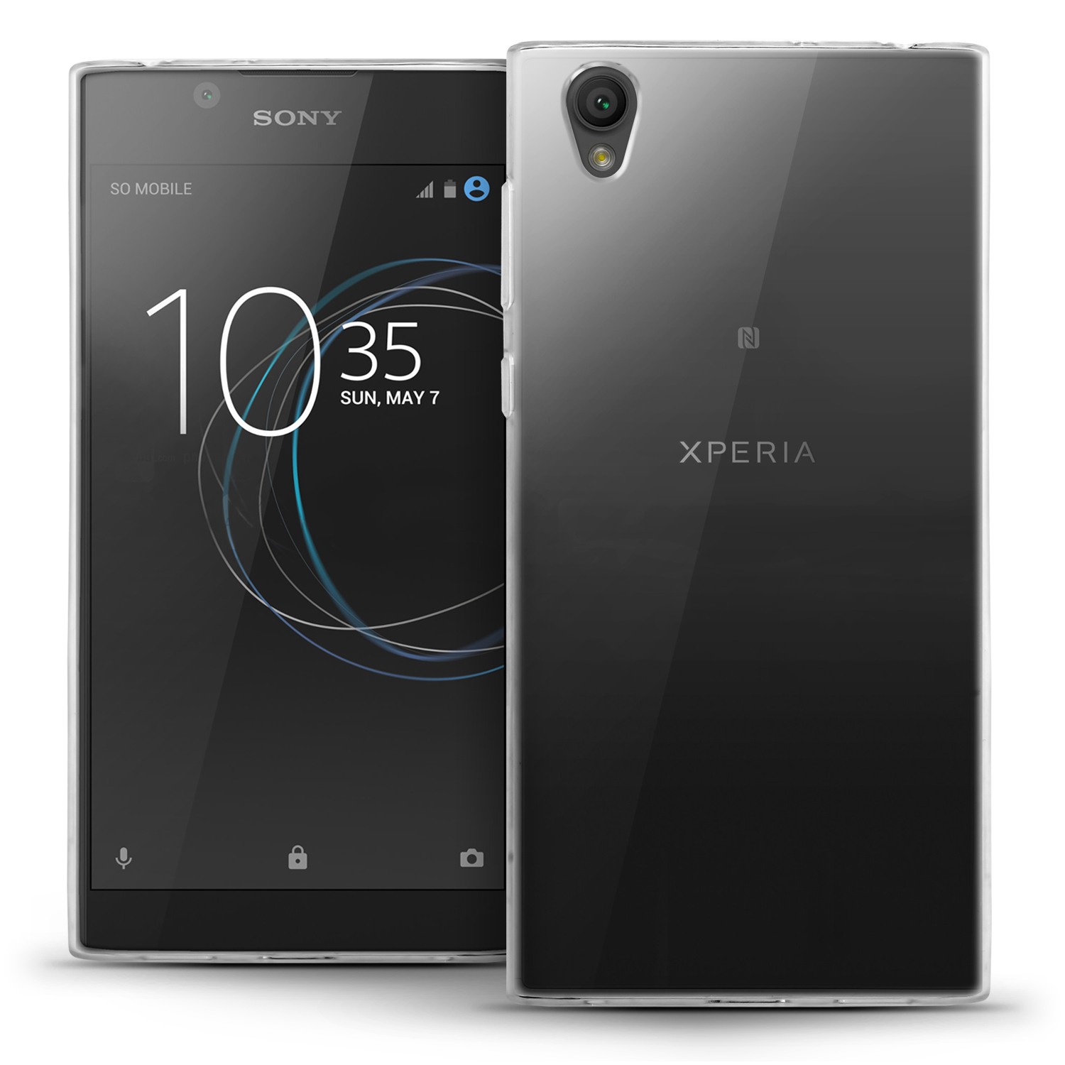 iGadgitz Glossy TPU Gel Skin Case Cover for Sony Xperia L1 (2017) + Screen Protector