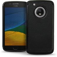 iGadgitz Hard PC Back Shell Cover & Silicone Case for Motorola Moto 5th Generation (Lenovo Moto G5) + Screen Protector
