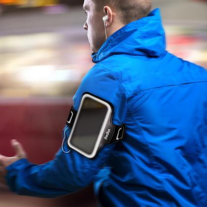 iGadgitz Reflective Black Sports Jogging Gym Armband for Motorola Moto 5th Gen Plus (Lenovo Moto G5 Plus) + Key Slot Thumbnail 2