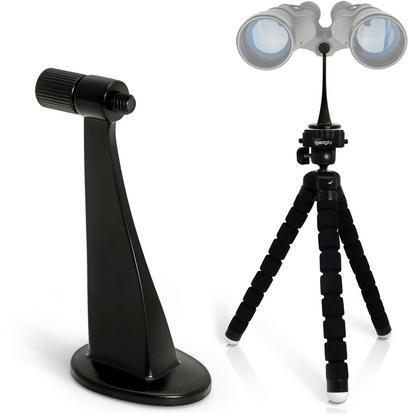 iGadgitz 2 in 1 Kit Lightweight Large Flexible Foam Mini Tripod with Binocular Metal Adapter Mount with 1/4 Inch Thread Thumbnail 1
