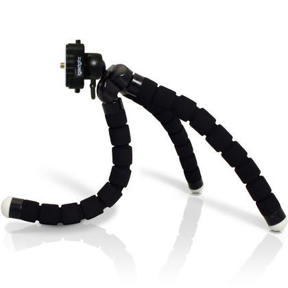 iGadgitz 2 in 1 Kit Lightweight Large Flexible Foam Mini Tripod with Binocular Metal Adapter Mount with 1/4 Inch Thread Thumbnail 2