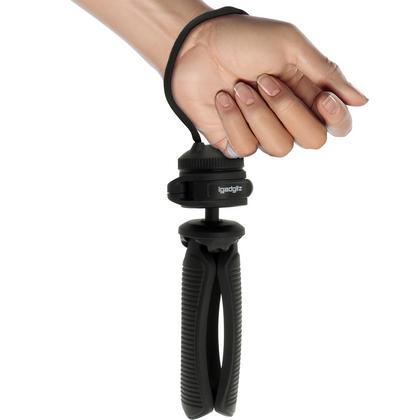 """iGadgitz 2 in 1 Kit Mini Lightweight Table Top Stand Tripod Grip Stabilizer + Binocular Metal Adapter 1/4"""" Screw Thread Thumbnail 4"""
