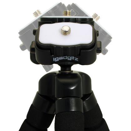 iGadgitz 2 in 1 Kit Lightweight Large Flexible Foam Mini Tripod with Binocular Metal Adapter Mount with 1/4 Inch Thread Thumbnail 3