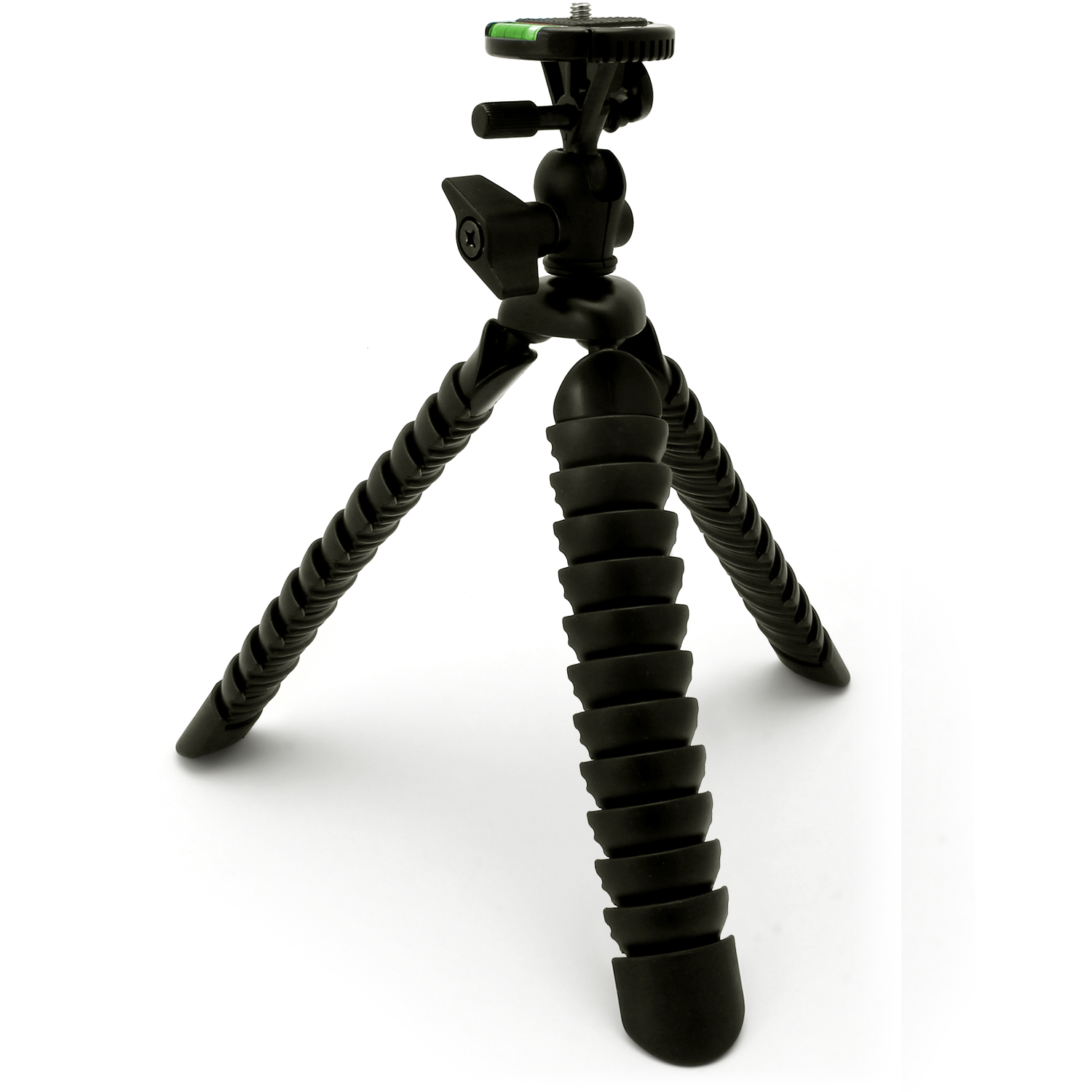 iGadgitz 11-Inch Large Flexible Tripod Stand for DSLR SLR Cameras with Bendable Legs, Quick Release Plate, Bubble Level