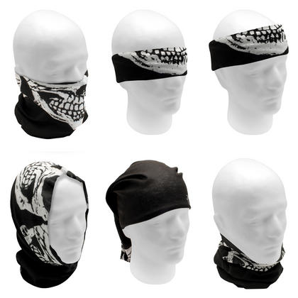 CampTeck Multi-Purpose Seamless Bandana Camo Skull Print Tube Face Mask Balaclava for Motorcycling Hiking Riding Cycling Thumbnail 2