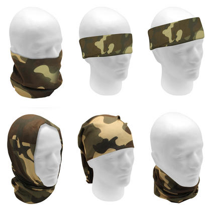 CampTeck Multi-Purpose Seamless Bandana Camo Skull Print Tube Face Mask Balaclava for Motorcycling Hiking Riding Cycling Thumbnail 4
