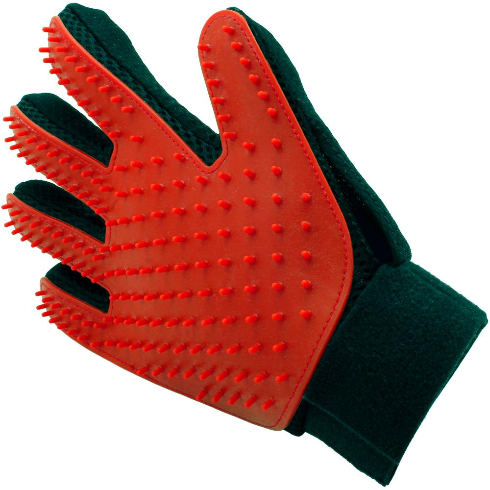 iGadgitz Home Pet Grooming Glove Deshedding Brush Pet Hair Remover Mitt for Dog Cat Puppy Kitten (Right Hand)