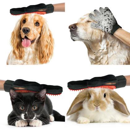 iGadgitz Home Pet Grooming Glove Deshedding Brush Pet Hair Remover Mitt for Dog Cat Puppy Kitten (Right Hand) Thumbnail 4