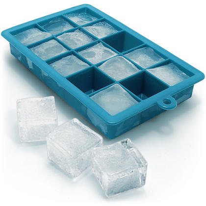 iGadgitz Home Silicone Ice Cube Tray 15 Square Food Grade Ice Cube Moulds ? Pack of 1 Thumbnail 1