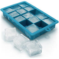 iGadgitz Home Silicone Ice Cube Tray 15 Square Food Grade Ice Cube Moulds ? Pack of 1