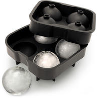 iGadgitz Home Silicone Ice Ball Mould 4x4.5cm Sphere Ice Rounds Ball Maker for Cocktail, Whiskey & Other Drink ?  1x