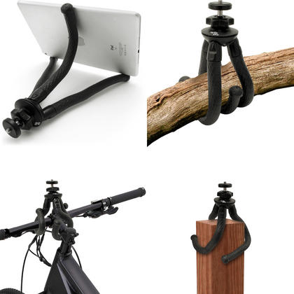 iGadgitz Large Ultra Flexible Tripod Stand for DSLR SLR Cameras with 360? Rotating Ballhead - Black Thumbnail 4