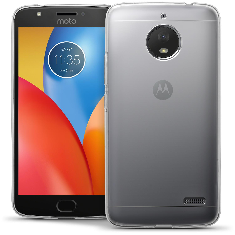 iGadgitz Glossy TPU Gel Skin Case Cover Motorola Moto E4 2017 (Not US Model) + Screen Protector