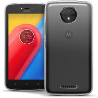 iGadgitz Glossy TPU Gel Skin Case Cover Motorola Moto C 2017 + Screen Protector