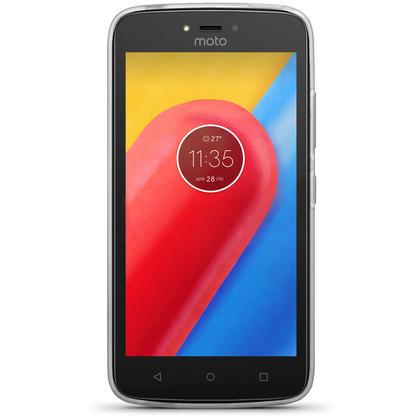 iGadgitz Glossy TPU Gel Skin Case Cover Motorola Moto C Plus 2017 + Screen Protector Thumbnail 3