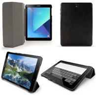 iGadgitz Black PU Leather Smart Cover Case for Samsung Galaxy Tab S3 9.7 SM-T820 / SM-T825 with Auto Sleep/Wake Function