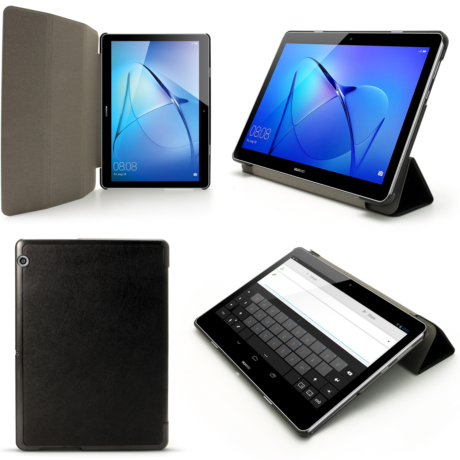 online store 75dd8 1fcec Details about PU Leather Smart Cover for Huawei MediaPad T3 10