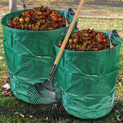 CampTeck Garden Waste Bag Polypropylene Heavy Duty Reusable Garden Refuse Sack Thumbnail 4