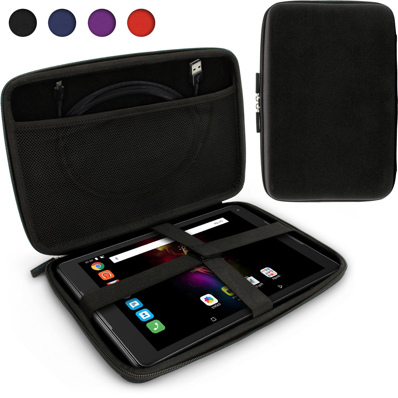 los angeles 70cca bf89b Details about Black EVA Zipper Travel Hard Case Cover Sleeve for Alcatel  PLUS 10 & POP 4 10