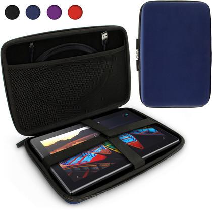 iGadgitz Blue EVA Zipper Travel Hard Case Cover Sleeve for LG G Pad 10.1, G Pad 2 10.1, G Pad X 10.1 & G Pad X 2 10.1 Thumbnail 1