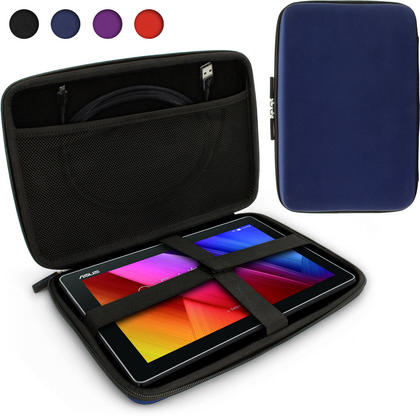 iGadgitz Blue EVA Zipper Travel Hard Case Cover Sleeve for Asus MemoPad 10 & ZenPad 10 Thumbnail 1