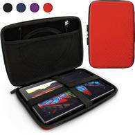 iGadgitz Red EVA Zipper Travel Hard Case Cover Sleeve for LG G Pad 10.1, G Pad 2 10.1, G Pad X 10.1 & G Pad X 2 10.1