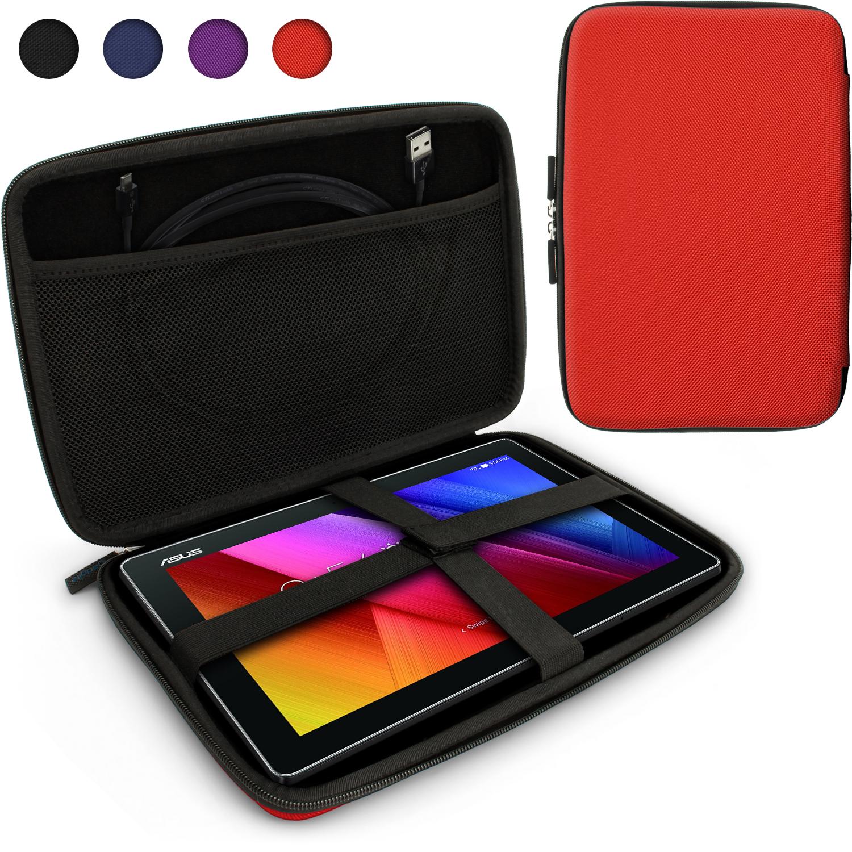 iGadgitz Red EVA Zipper Travel Hard Case Cover Sleeve for Asus MemoPad 10 & ZenPad 10