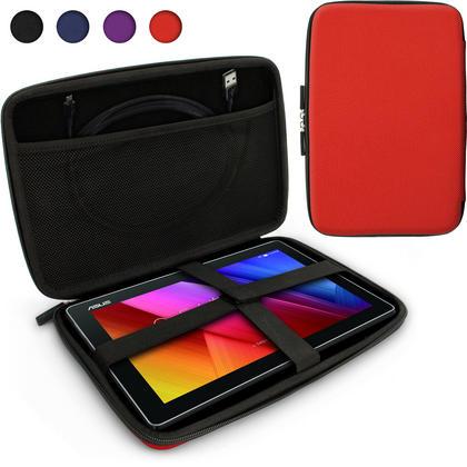 iGadgitz Red EVA Zipper Travel Hard Case Cover Sleeve for Asus MemoPad 10 & ZenPad 10 Thumbnail 1