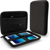 "iGadgitz Black EVA Zipper Travel Hard Tablet Case Cover Sleeve for Huawei MediaPad M2 8"" & M3 8.2"""