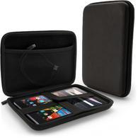 "iGadgitz Black EVA Zipper Travel Hard Tablet Case Cover Sleeve for Lenovo Tab 2 & 3 8"", Tab 3 8"" Plus, Yoga Tab 3 8"""