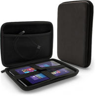 iGadgitz Black EVA Zipper Travel Hard Case Cover Sleeve for Linx 8 Tablet
