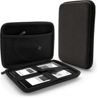 iGadgitz Black EVA Zipper Travel Hard Case Cover Sleeve for Kobo Aura One Tablet