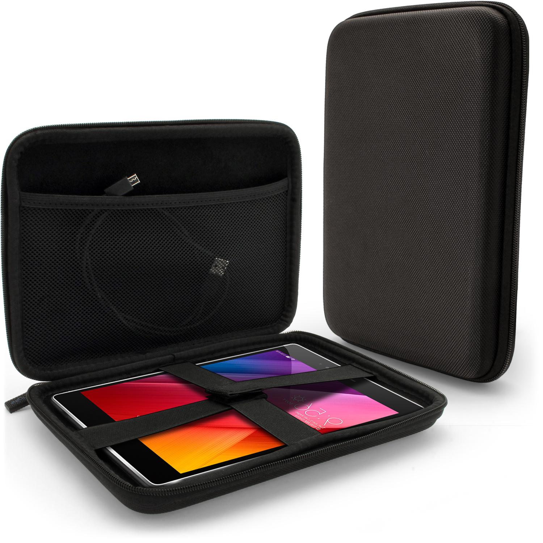 iGadgitz Black EVA Zipper Travel Hard Case Cover Sleeve for Asus ZenPad S 8'' Tablet