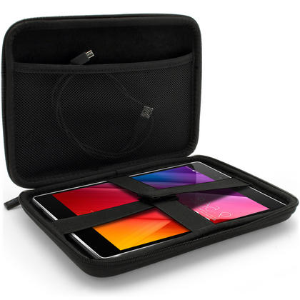 iGadgitz Black EVA Zipper Travel Hard Case Cover Sleeve for Asus ZenPad S 8'' Tablet Thumbnail 4