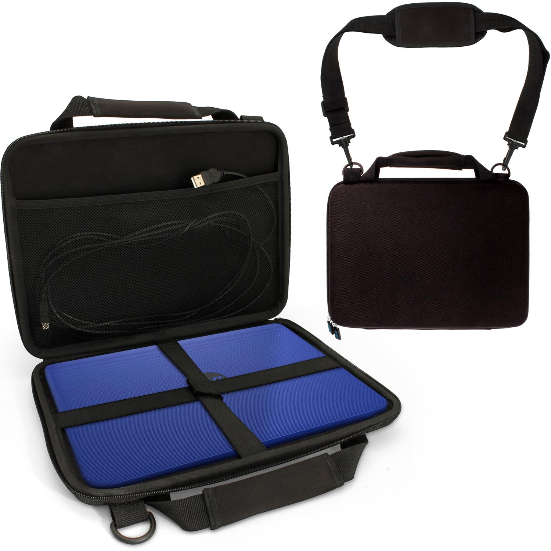 iGadgitz Black EVA Hard Cover Carry Case for HP Stream 11-Y000NA, HP Stream 11-Y051SA 11.6, Chromebook 11 G5