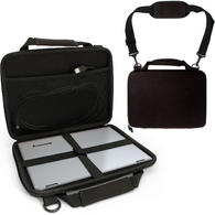 "iGadgitz Black EVA Hard Cover Carry Case for Lenovo IdeaPad 100S & 110S 11.6"", Yoga 700 & 710 11"