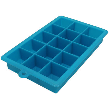 iGadgitz Home Silicone Ice Cube Tray 15 Square Food Grade Ice Cube Moulds ? Pack of 2 Thumbnail 2