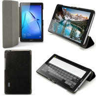 "iGadgitz Premium Black PU Leather Smart Cover Case for Huawei MediaPad T3 7"" with Stand + Auto Sleep/Wake + Screen Prot"