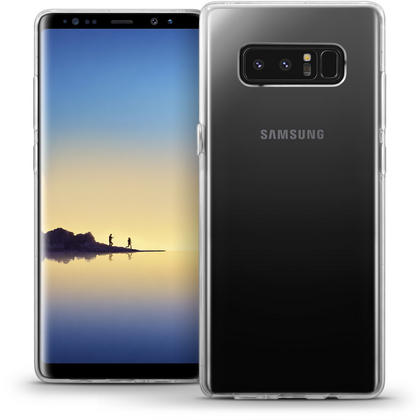 iGadgitz Transparent Clear Glossy TPU Gel Skin Case Cover for Samsung Galaxy Note 8 Thumbnail 1