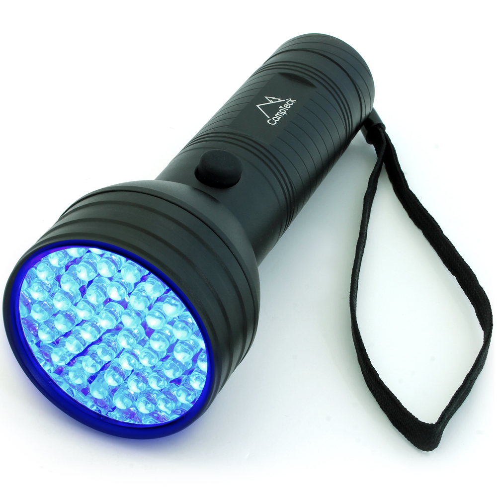 CampTeck 51 LED UV Torch 395nm Ultra Violet Flashlight Blacklight Pet Dogs Cats Urine & Stains Detector