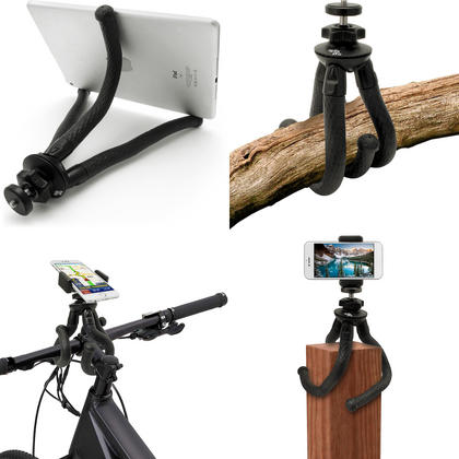 iGadgitz Large Ultra Flexible Tripod Stand for DSLR SLR Cameras + Universal Smartphone Holder Mount Bracket Adapter Thumbnail 4