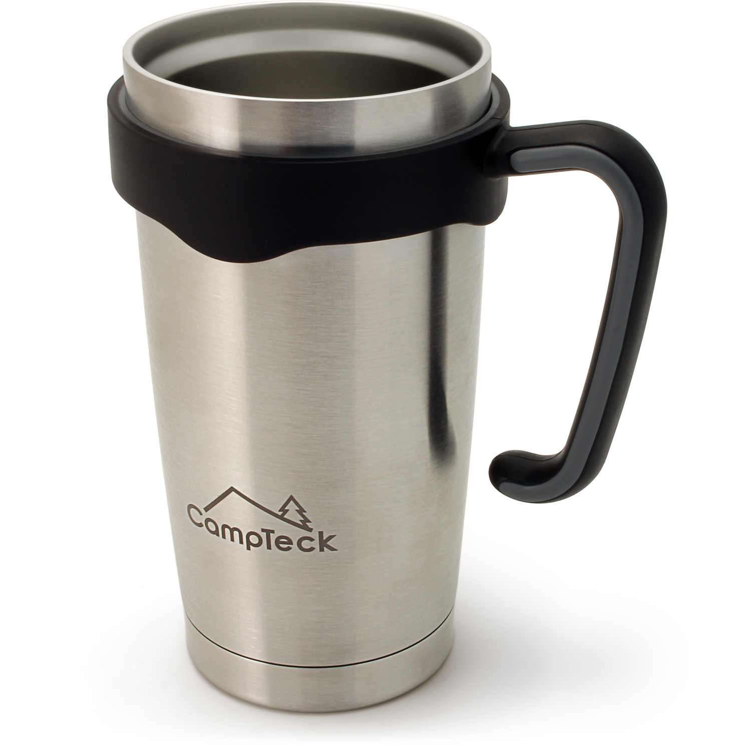 CampTeck 600ml/20.3Oz Thermos Cup Double Wall Vacuum Stainless Steel Insulated Tumbler for Cold & Hot Drinks ? Silver