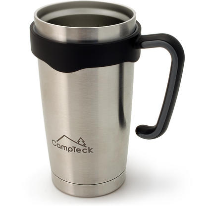 CampTeck 600ml/20.3Oz Thermos Cup Double Wall Vacuum Stainless Steel Insulated Tumbler for Cold & Hot Drinks ? Silver Thumbnail 1