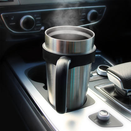 CampTeck 600ml/20.3Oz Thermos Cup Double Wall Vacuum Stainless Steel Insulated Tumbler for Cold & Hot Drinks ? Silver Thumbnail 4