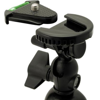 iGadgitz 11-Inch Large Flexible Tripod & Smartphone Holder Bracket & Thumb Screw + Nut Adaptor for DSLR SLR Cameras Thumbnail 2