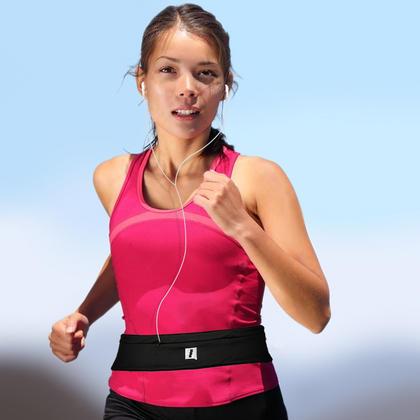 CampTeck Running Belt Pouch Fitness Waist Pack Sports Belt for Running, Walking, Hiking, Cycling etc. Thumbnail 2