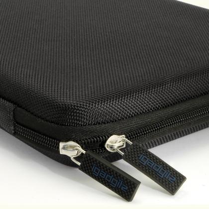 "iGadgitz Black EVA Zipper Travel Hard Case Cover Sleeve for Amazon Fire HD 10.1"" Thumbnail 3"