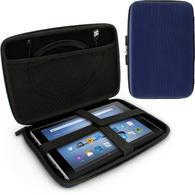 "iGadgitz Blue EVA Zipper Travel Hard Case Cover Sleeve for Amazon Fire HD 10.1"""